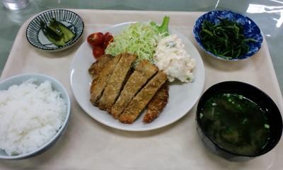 お食事処 ケ・リコ 日替わりランチ とんかつ 500円